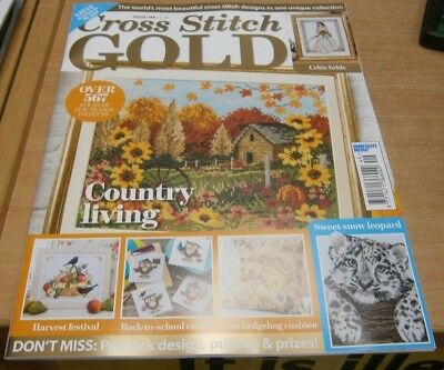 Cross Stitch Gold magazine #149 2018 Country Living, Back-to-school cards & more