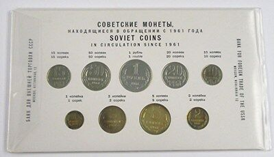 1961 Russia Ussr Cccp Soviet Union - Official Mint Proof Like Set (9) - Rare