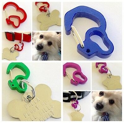 Itag Clip Holder Secure Pet Id Name Tag To Dog Collar Quick Release Connector