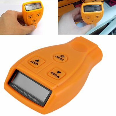 #B Coating Painting Thickness Gauge Lacquer Metal Film Tester Yellow English