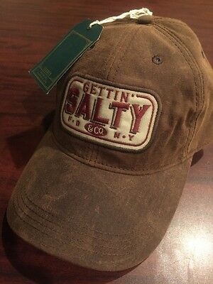 Gettin Salty Waxed Chocolate Hat - Firefighter Hat