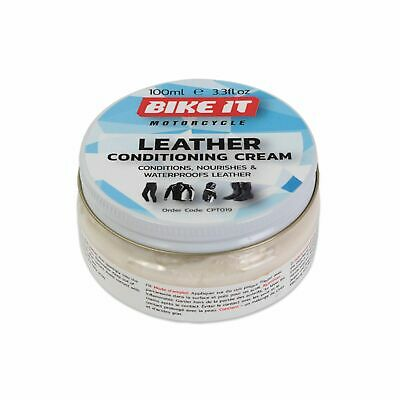 Bike-It Motorcycle Bike Scooter Rider Leather Conditioning Cream 100ml CPT019