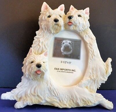 """Dog Picture Frame - E&S Imports - holds 3""""x 5"""" Photo -  8""""x8"""" frame"""