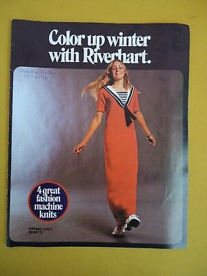 MACHINE KNITS Tiffany 3 Ply Book 13 Color up Winter with RIVERHART 4 Knits #5939