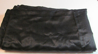 "Victorian Black Silk Fabric 31""x 2.25 Yds Doll Millinery Crazy Quilt Project J27"