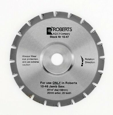 Roberts 10476 20Tooth Carbide Tip Saw Blade for 1055 Jamb Saw, 63/16Inch