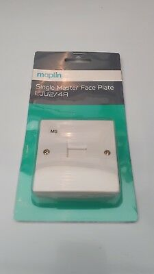 Maplin Single Master Faceplate LJU2/4A With Back Box BT Telephone Wall Socket