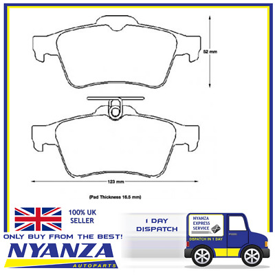 GBP1764AF FORD FOCUS MAZDA 3,VAUXHALL VECTRA GENUINE UNIPART Brake Pad Set