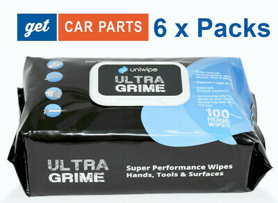 Heavy Duty Uniwipe Ultragrime Industrial Strength Wet Wipes 6 Packs