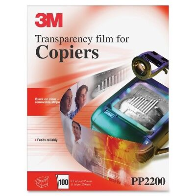 New Open Box 3M PP2200 Transparency Film for Copiers 100 Sheets 8.5 x 11