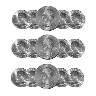 2014 P,D&S NATIONAL PARK QUARTERS 15 COIN SET FREE SHIPPING Best Price