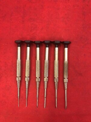 NEW SET OF 6 KENDRICK & DAVIS Jewelers Swivel Knob Screwdriver