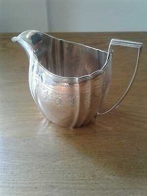 Antique Georgian Solid Sterling Silver Cream/Milk Jug London 1802