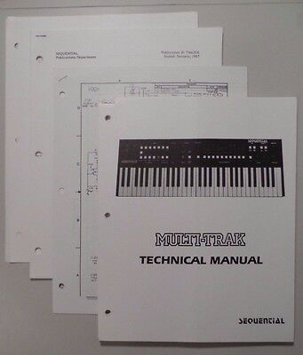 Sequential Circuits Multi Trak Technical Manual 615, Schematics 410+