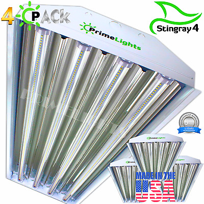 4 PACK LED HIGH BAY LIGHT 4FT 5000k DAYLIGHT WHITE MAX COVERAGE SHOPLIGHT USA MD