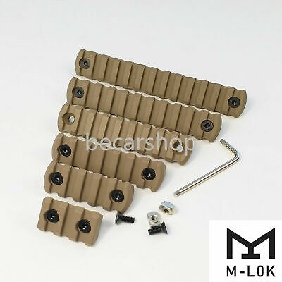 3,5,7,9,11,13 slot Picatinny Aluminum Rail Section  M-Lok Type Tan color