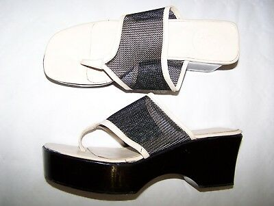 Scarpe Infradito Gianni Versace Couture N°37 Summer White  Shoes