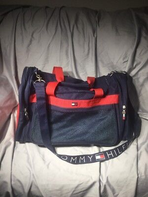 Vintage Tommy Hilfiger Duffle Bag Gym Sports Travel Carry On Luggage  Spellout df9e0690f2