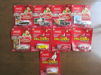 9 Johnny Lightning Coca Cola Die-Cast Vintage Collector's Cars See Pictures!!!!