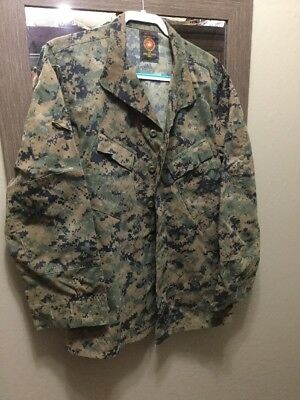 Usmc Med-Long Us Marine Corps Woodland Marpat Blouse Shirt Mccuu Insect Repell
