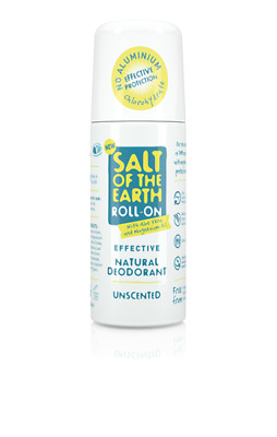 Crystal Spring Salt of the Earth Natural Deodorant Roll-On UNSCENTED  (75ml)