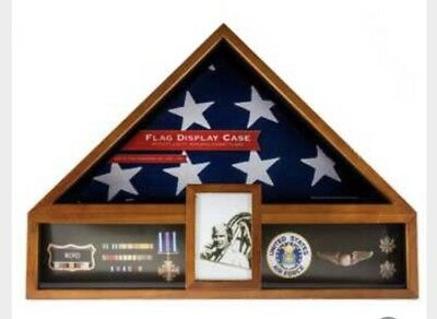 """AMERICAN CASKET FLAG "" Display CASE"" Burial FLAG ""BEST PRICE*"