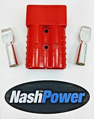 350 Amp Red 2/0 AWG Battery Connector Replaces Anderson SB350