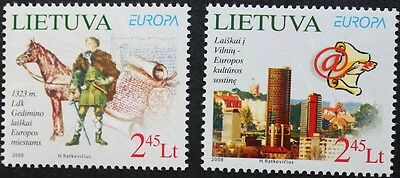 Europa, C.E.P.T. stamps, 2008, Lithuania, 2 stamp set, mint, never hinged
