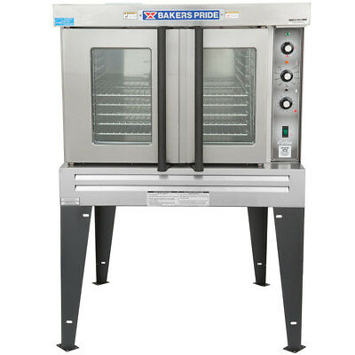 5 Pan Single Deck Full Size Natural Gas Commercial Convection Oven with Legs
