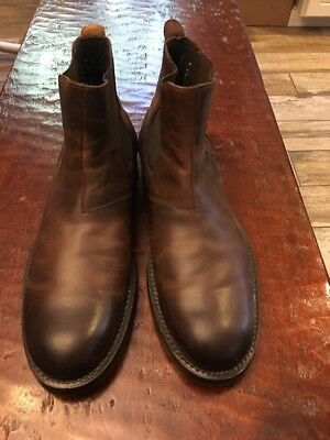 db77d815847 WOLVERINE 1000 MILE Montague Chelsea Dark Brown Leather Gore Boot 8 ...