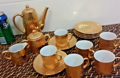 Vintage Gold Coffee Set made in Australia by St Kilda