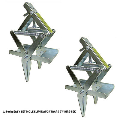 2 Pack Easy Set Mole Eliminator Traps Made In U S A By Wire Tek