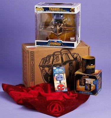 MARVEL COLLECTOR CORPS AVENGERS INFINITY WAR - THANOS w SANCTUARY FUNKO POP!