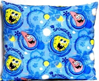 Sponge Bob Toddler Pillow on Blue 100%Cotton SB10-7 New Handmade