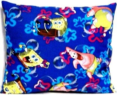 Sponge Bob Toddler Pillow on Royal Blue 100%Cotton SB11-6 New Handmade
