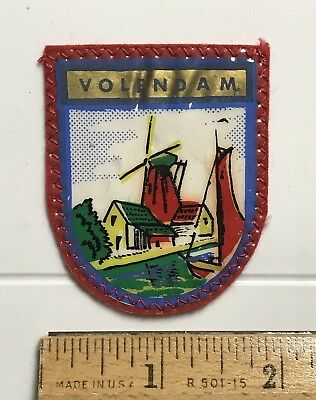Volendam Holland The Netherlands Dutch Windmills Souvenir Printed Patch Badge