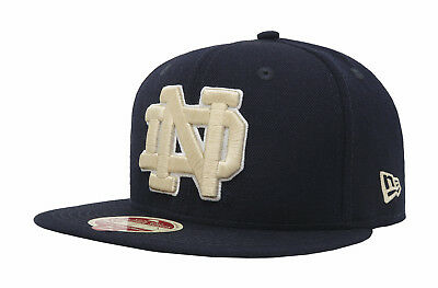 029727264e1 New Era 59Fifty NCAA Cap Notre Dame Fighting Irish Navy Blue Mens Fitted Hat