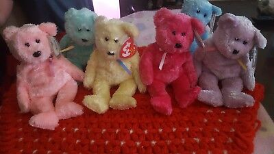 Ty beanie babies Sherbert Lot of 6. 2002 and 2003.