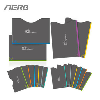 Anti RFID Safety Card Protector Set Aerb 16 Pieces Blocking Sleeves Anti Theft