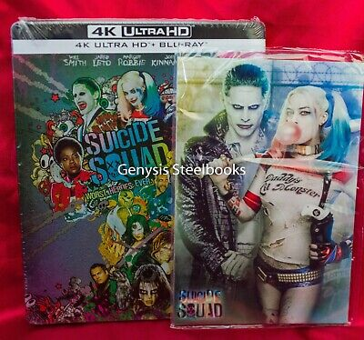 Suicide Squad 4K Blu-Ray Limited Edition Steelbook Import Region Free +Art Cards