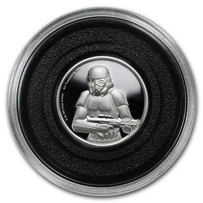 Niue -2018- Silver $5 Proof Coin- 2 OZ Star Wars Stormtrooper Ultra High Relief