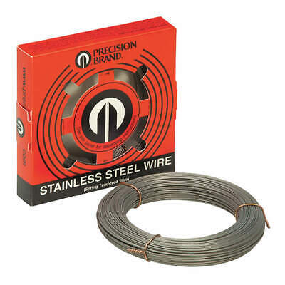 PRECISION  302 Stainless Steel Spring Wire, Coil ,Bare Wire, 29067, Metalic Gray