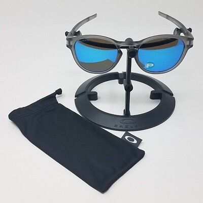 1c2226fadb OAKLEY SUNGLASSES LATCH Matte Grey Ink Sapphire Iridium Polarized OO9265-08