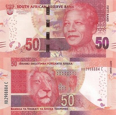South Africa 50 Rand (ND/2015) - Mandela/Lion/p140b UNC
