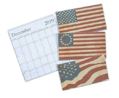 """1 2019-2020 Pocket 2 Year Calendar  """"America""""  **FREE SHIPPING with 6 items**"""
