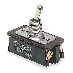 CARLING TECHNOLOGIES Toggle Switch,DPST,10A @ 250V,Screw, EK204-73