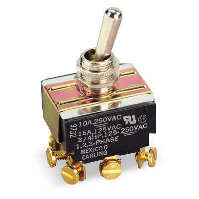 CARLING TECHNOLOGIES Toggle Switch,3PDT,10A @ 250V,Screw, HM254-73