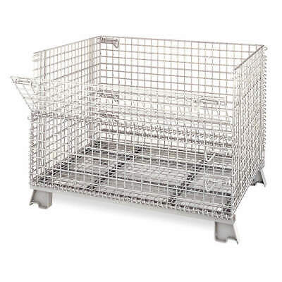 NASHVILL Steel Wire Mesh Collapsible Container,32 In L,Silver, C324028S4, Silver