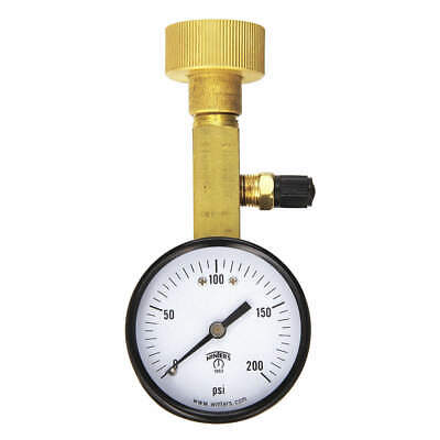 WINTERS Air Over Water Test Gauge Kt,0 to 200psi, AOM-204TM