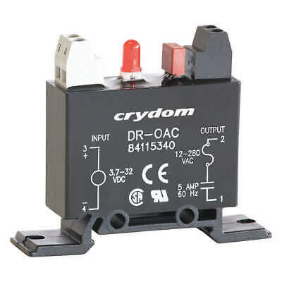 CRYDOM Out Module,In 4-32VDC,Out 12-280VAC,5.0A, DR-OAC